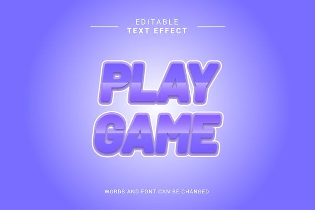 Blauer lila runder spielspieltext-effekt