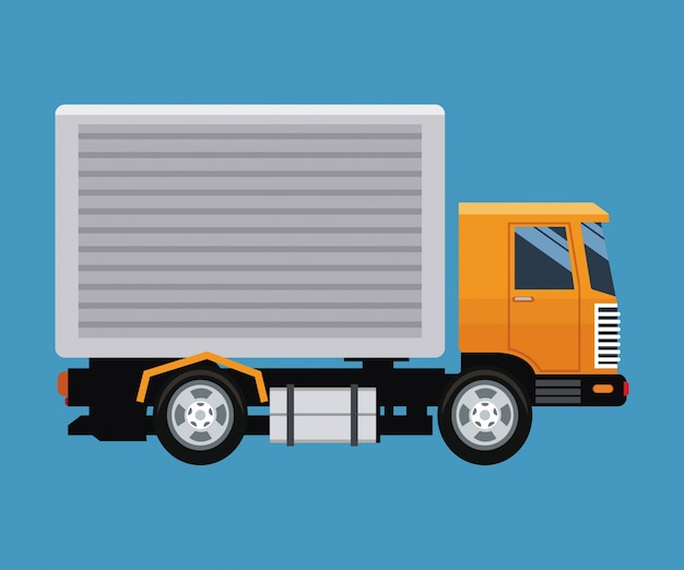 Blauer lkw-lieferungskonzept-lkw-transport