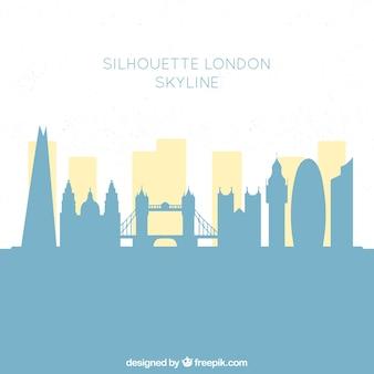 Blauer london-skylinehintergrund