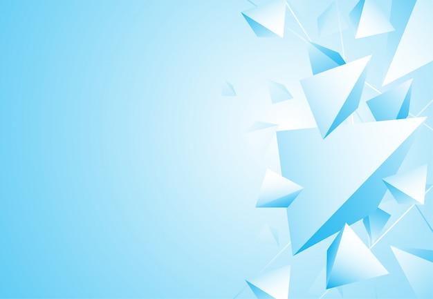 Blauer luxushintergrund des abstrakten polygonalen musters