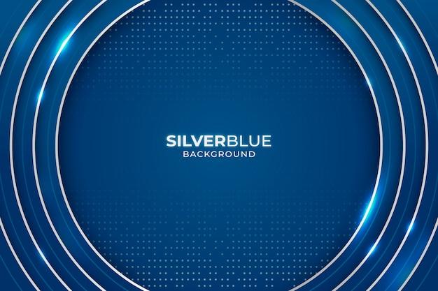 Blauer luxushintergrund im papierstil