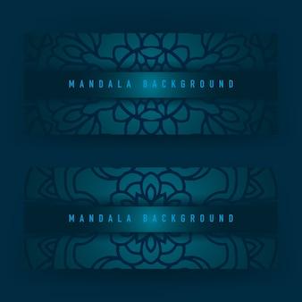 Blauer mandala-hintergrund