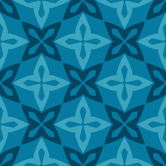 Blauer marokkanischer dekorativer keramikziegel des nahtlosen musters