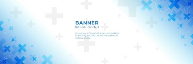 Blauer medizinischer abstrakter hintergrund mit pluszeichen. vorlagendesign mit konzept und idee für gesundheitstechnologie, innovationsmedizin, gesundheit, wissenschaft und forschung.