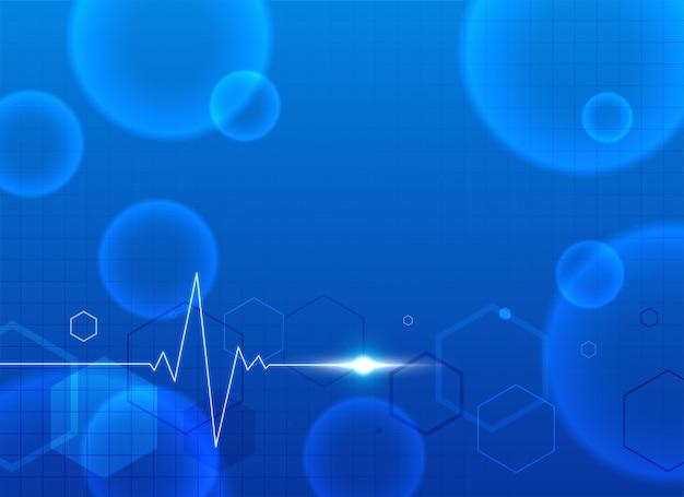 Blauer medizinischer hintergrund mit textplatz