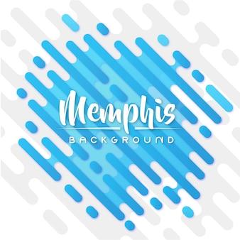 Blauer memphis-fahnen-hintergrund