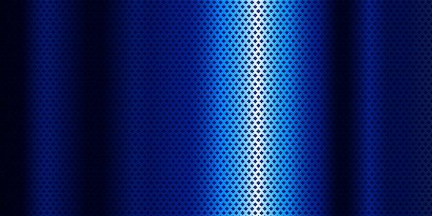 Blauer metallischer hintergrund mit blauer steigung
