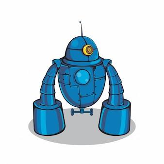 Blauer metallroboter