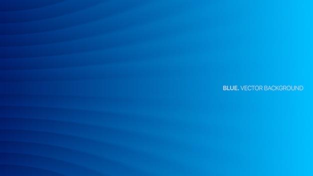 Blauer minimalistischer abstrakter hintergrund der unscharfen linien 3d