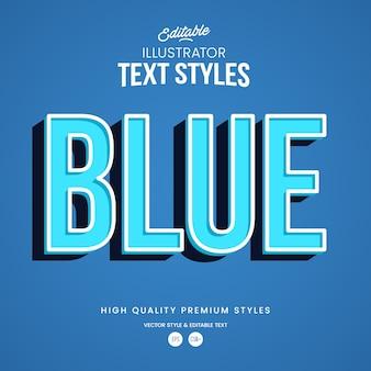 Blauer moderner abstrakter texteffekt bearbeitbarer grafikstil