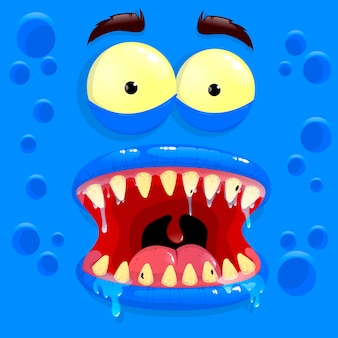 Blauer monster-avatar