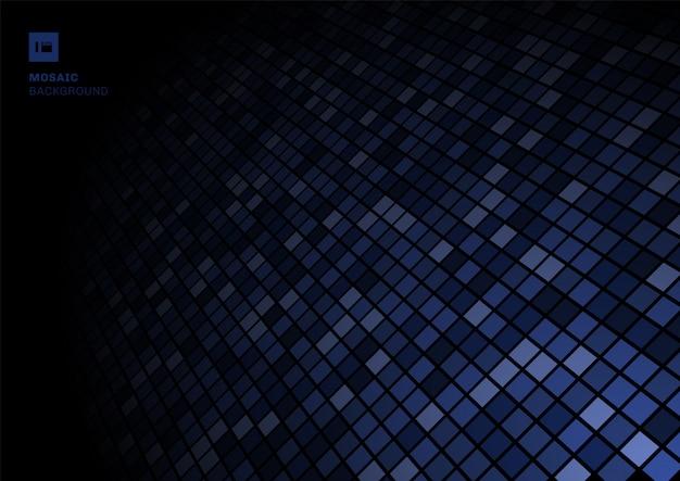Blauer mosaikpixelmusterhintergrund