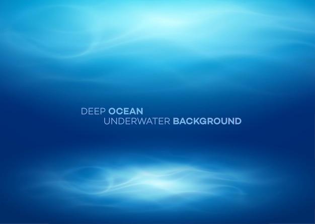Blauer natürlicher hintergrund des tiefen wassers und des abstrakten meeres.