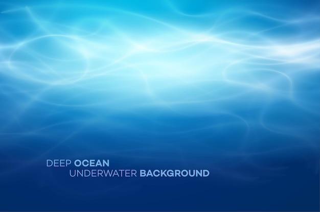 Blauer natürlicher hintergrund des tiefen wassers und des abstrakten meeres