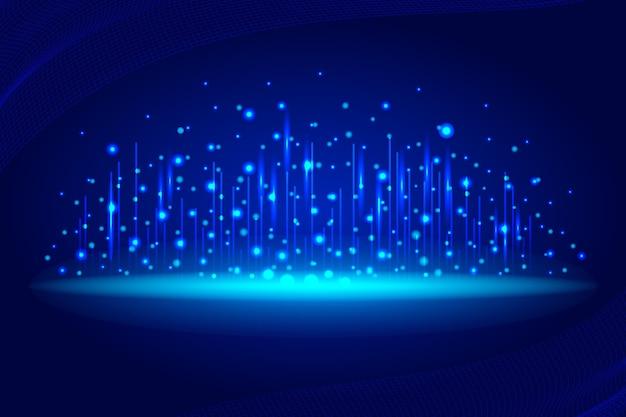 Blauer netzwerkverbindungshintergrund