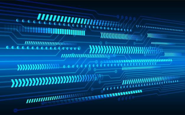 Blauer pfeil cyber circuit zukunft technologie konzept hintergrund