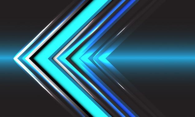 Blauer pfeil richtung abstrakter technologie geschwindigkeitslicht futuristischer hintergrund.