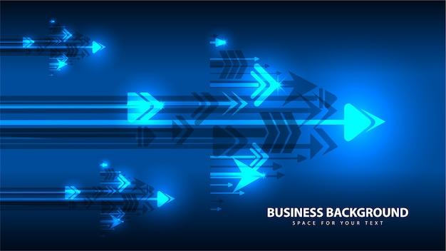Blauer pfeil und geschäftstechnologie-zusammenfassungshintergrund