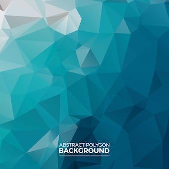 Blauer polygon-hintergrund
