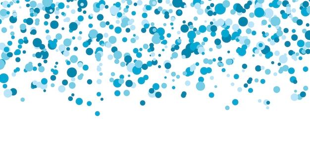 Blauer punkt farbiger hintergrund. illustration. abstrakte hell gefärbte gepunktete kreise. fallende farbpunkte. eps10.