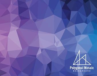 Blauer purpurroter polygonaler Mosaik-Hintergrund