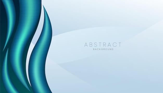 Blauer realistischer abstrakter 3d-hintergrund