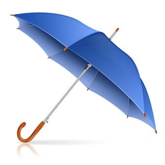 Blauer regenschirm