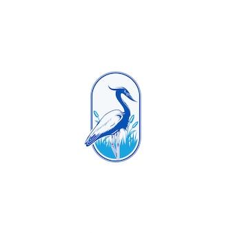Blauer reiher