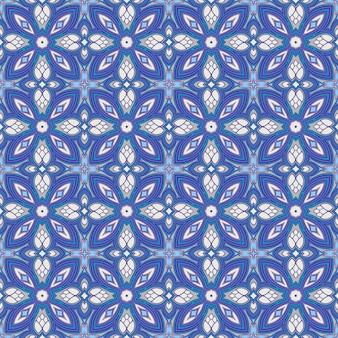 Blauer retro im flachen design