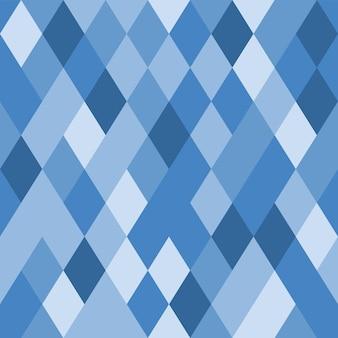Blauer rhombischer mosaikhintergrund. nahtloses geometrisches muster. blaue rauten. kristall textur. vektorabbildung eps10.
