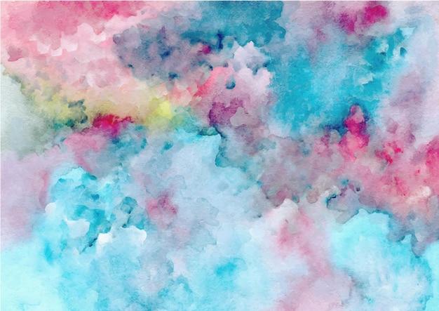 Blauer roter abstrakter texturhintergrund mit aquarell
