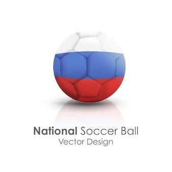 Blauer, roter und weißer nationalfußball