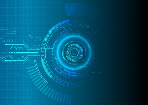Blauer schatten-technologie-hintergrund