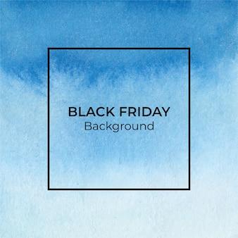 Blauer schwarzer freitag-aquarellbeschaffenheitshintergrund
