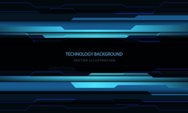 Blauer schwarzer metallischer lichtleistungsenergiedesign der abstrakten technologie cyberschaltung moderner futuristischer hintergrund