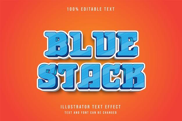 Blauer stapel, bearbeitbarer texteffekt 3d.