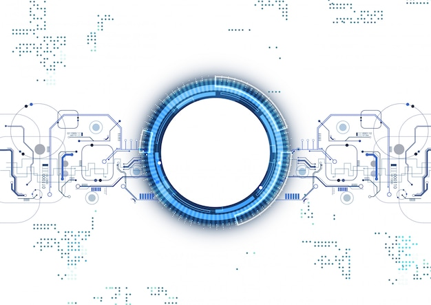 Blauer stromkreis-digitaltechnik-hintergrund