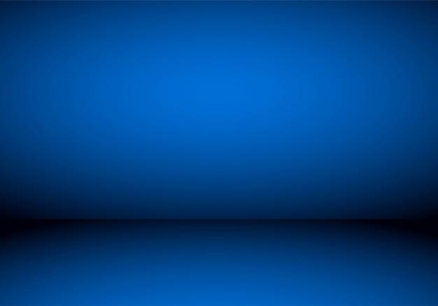 Blauer studio-farbverlauf im leeren raum