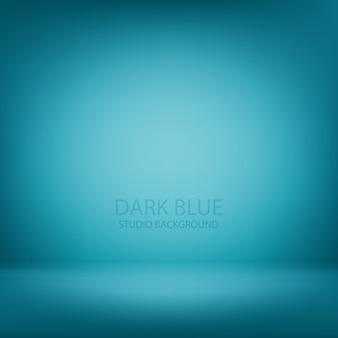 Blauer studiosteigungs-wandraum, moderner innenhintergrund