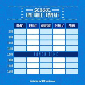 Blauer stundenplan