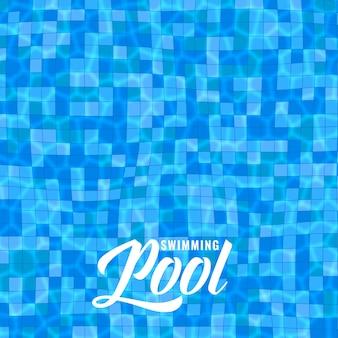 Blauer swimmingpoolhintergrund mit ätzmitteln