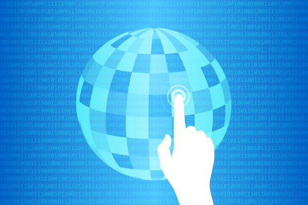 Blauer technologie-noten-welthintergrund