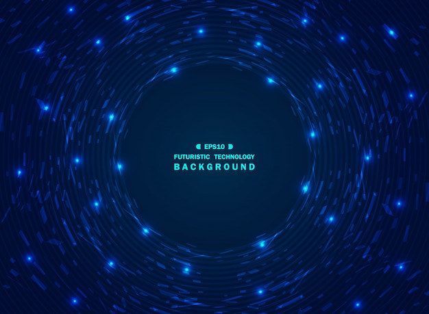Blauer technologiehintergrund der futuristischen steigung des chaos