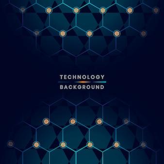 Blauer technologiehintergrund