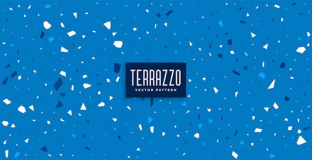 Blauer terrazzomuster kachelt texturhintergrund