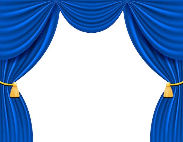 Blauer theatervorhang
