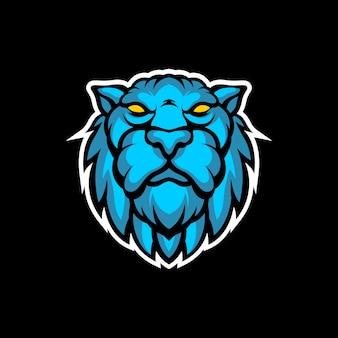 Blauer tigerkopf