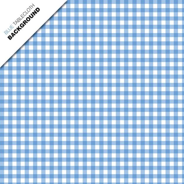 Blauer tischtuchhintergrund