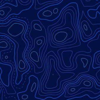 Blauer topographischer höhenlinienhintergrund