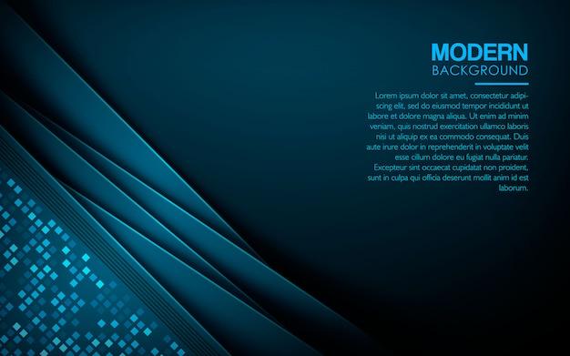 Blauer überlappungsschicht-luxushintergrund